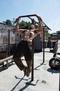 Rugged workout by Jason Statham