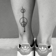 Minimal planet tattoo