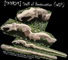 """Another CosPlay that would look great in LARP - """"[WIP] SKYRIM - Staff of Destruction by Dj3r0m"""""""