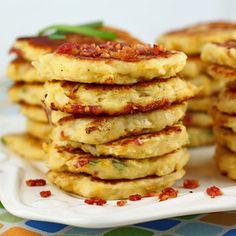 Bacon Cheddar Cauliflower Fritters