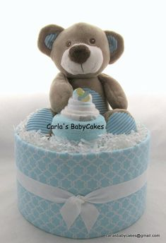 Baby diaper cake Baby shower gift Baby by MsCarlasBabyCakes