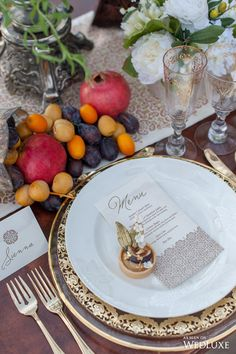 #place_setting A Transportive, Exotic #Moroccan-Inspired Shoot- Wedding Ideas | WedLuxe Magazine