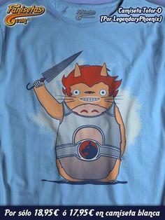 """Totor-O"" por #LegendaryPhoenix Parodia de #LionO de los #Thundercats y #Totoro! #Camisetas #Divertidas #Fanisetas http://www.fanisetas.com/product_info…/camiseta-totor-p-4603"
