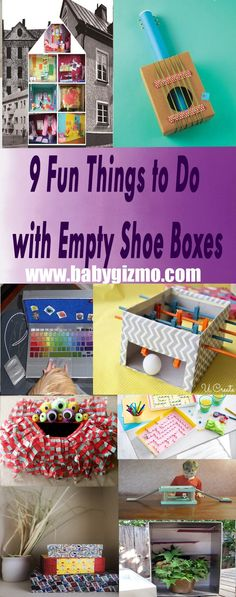 30 Shoe Box Craft Ideas: Fun Things, 30th And Box