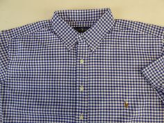 Polo Ralph Lauren SS 100% Cotton Gingham Plaid Oxford Sport Shirt $98 w Pony NWT #PoloRalphLauren #ButtonFront
