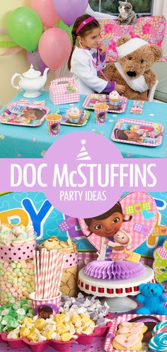 The doctor is in – celebrate your daughter's next birthday with Doc McStuffins birthday party ideas! Dottie the toy doctor and her stuffed animals are always great birthday party ideas for girls, because everything is so cuddly and colorful! All the decorating ideas, party food ideas, and other inspiration you need to plan the perfect event are on Birthday Express.