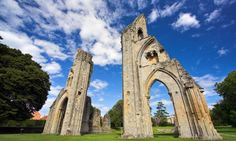 800 years of English history in 20 easy trips - Glastonbury Abbey ruins.