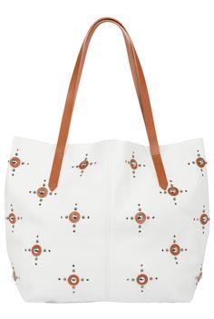Studded Leather Tote Bag, Nanni