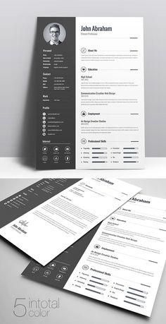 50 Free Resume Templates: Best Of 2018 - 2 Free Printable Resume Templates, Microsoft Word Resume Template, Simple Resume Template, Resume Design Template, Creative Resume Templates, Cv Template, Brochure Template, Templates Free, Design Social