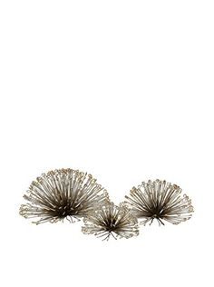 IMAX 844593 Laserette Wire Flower Wall Decor Set of 3 * Click image for more details.
