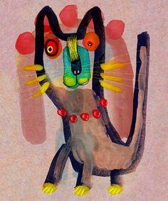 Você acha que esse gatinho foi desenhado por uma criança? Não foi não! O desenho é da artista canadense Jacinthe Chevalier. Sua inspiração para criar nasce justamente da liberdade, da espontaneidade e da ingenuidade dos gestos infantis.