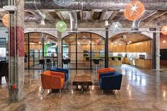 VLK Architects transforms a former metal fabrication warehouse into a high-tech office for digital marketing firm iProspect-