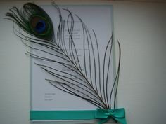 £20.00 for 10 Handmade Peacock Feather Wedding Invitations by Tauntonmumstheword
