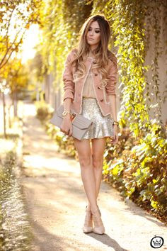 FashionCoolture - 27.05.2014 look du jour Dafiti girly outfit sequined skirt (1)