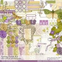 Spring Fields Scrapbooking Kit