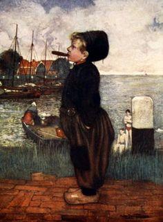 A Boy Smoking, Volendam. Nico Wilhelm Jungmann.