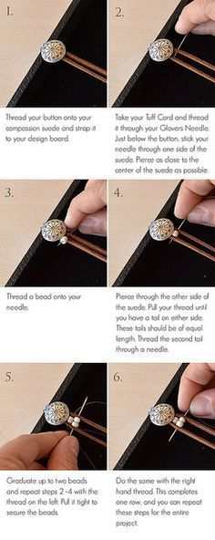 How to stitch a beaded bracelet - not exactly macrame but love the pictures and technique