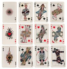 """"""" An old set of playing cards from Iran, circa 1930. """""""