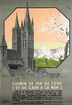 De Caen à la Mer  - France - 1912 - illustration de Geo Dorival