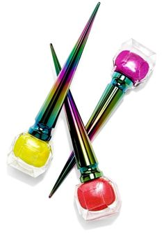 Designer Christian Louboutin captures the exuberance of the New Year with these new limited edition mini Loubichrome nail colors. Eyeshadow Dupes, Liquid Eyeshadow, Spring Nail Colors, Spring Nails, Christian Louboutin, Colors For Skin Tone, Metallic Nails, Glittery Nails, Miniature Bottles