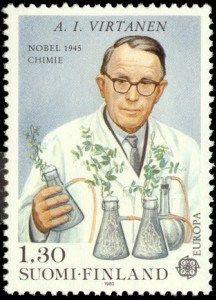 Artturo Ilmari Virtanen auf Briefmarke aus Finnland