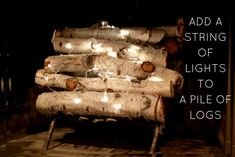 Easy Fireplace Idea—Battery-Operated Strand Lights Wrapped around Logs ideas non working Easy DIY Fireplace Filler Idea (with a Seasonal Upgrade! Fireplace Filler, Fireplace Lighting, Candles In Fireplace, Fireplace Inserts, Modern Fireplace, Brick Fireplace, Fireplace Ideas, Fireplace Outdoor, Fireplace Decorations