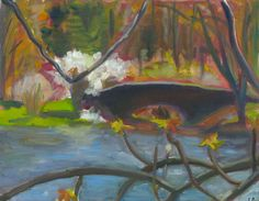 Original paintings from the Boston series are now for sale on etsy.com  Leverett Pond, Jamaica Plain