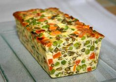 It's springtime: here's the recipe for a vegetable terrine! - Quick and Easy Recipes Love Food, A Food, Food And Drink, My Best Recipe, Quiches, Appetisers, Cooking Light, Vegetable Recipes, Tapas