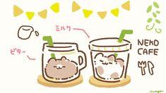 Easy Disney Drawings, Cute Food Drawings, Cute Animal Drawings Kawaii, Cute Cartoon Drawings, Kawaii Doodles, Kawaii Chibi, Cute Doodles, Cute Chibi, Cute Bakery