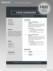 Superb Free Clean Resume Template