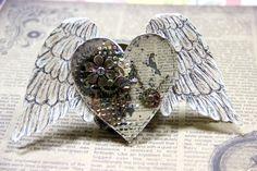 """открытка """"Окрыленное сердце"""""""