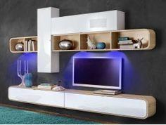 meuble tv design lumineux domizio | tvs, led and design - Meuble Tele Mural Design