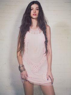 Candela Elle Lace Mini Dress at Free People Clothing Boutique