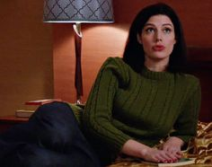 Megan Draper's Olive Green Knit Sweater from Mad Men: Commissions and Fees Mad Men Fashion, Winter Fashion, Mad Men Mode, Jessica Pare, Best Series, Green Sweater, Men Looks, Style Icons, Olive Green