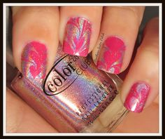Southern Sister Polish: Valentine's Day Water Marble