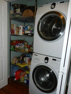 Small Pantry With Washer And Dryer | Stackable Washer And Dryer | Mobile  Life!! | Pinterest | Washer, Laundry And Laundry Rooms