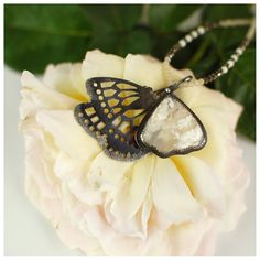 RESERVED Butterfly necklace by 6shadowsjewelry on Etsy