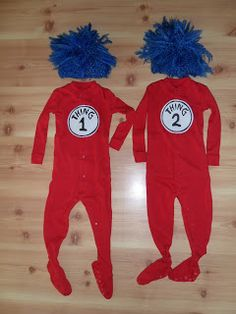 thing 1 and thing 2 costumes so easy to make - Thing 1 Thing 2 Halloween Costume