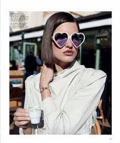 32a5f6155e Julia van Os Poses in Chic Spring Fashions for Harper s Bazaar Spain.  Spring SunglassesSunglasses 2017Sunglasses WomenBurberry GlassesHarper s ...