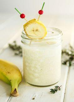 Frischer Bananenquark - Magerquark-Rezepte zum Abnehmen