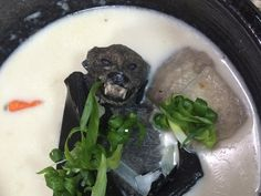 Fruit bat soup is a popular dish in Palau, Micronesia - the bat is served whole!