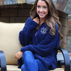 Monogrammed Appalachian Pile Pullover | Southern Marsh
