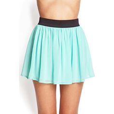 FOREVER 21+ PLUS SIZES Georgette Mini Skirt