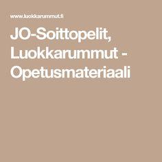 JO-Soittopelit, Luokkarummut - Opetusmateriaali Music