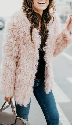 Blush shag sweater.
