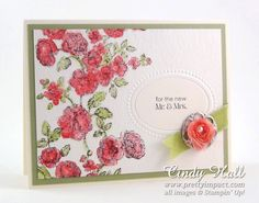 Stampin Up Elements of Style Stamp Set- loosely color and spritz with water