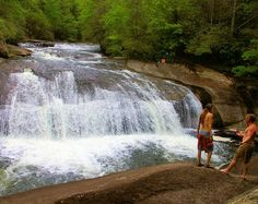 Turtleback Falls is a great swimming hole in the Nantahala National Forest in the NC mountains
