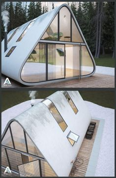 cool Modern a frame Read More by carlgustavs. cool Modern a frame Read More by carlgustavs. A Frame Cabin, A Frame House, Tiny House Design, Modern House Design, Modern Tiny House, Luxury Interior Design, Interior Architecture, Futuristic Architecture, Melbourne Architecture