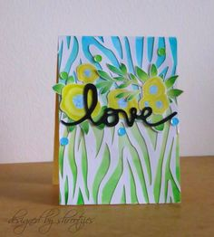 Handmade floral card by Shrootzies