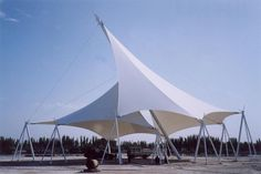 temporary tensile fabric structure